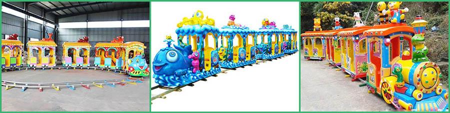 аттракцион поезд на рельсах