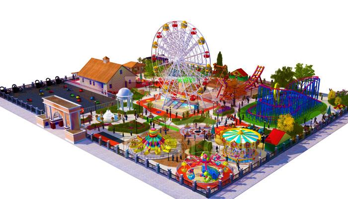 Парк развлечений на небольшой площади