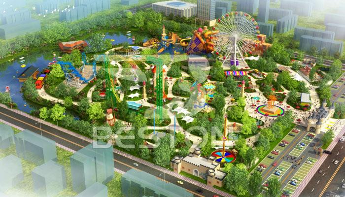 Парк развлечений в городе