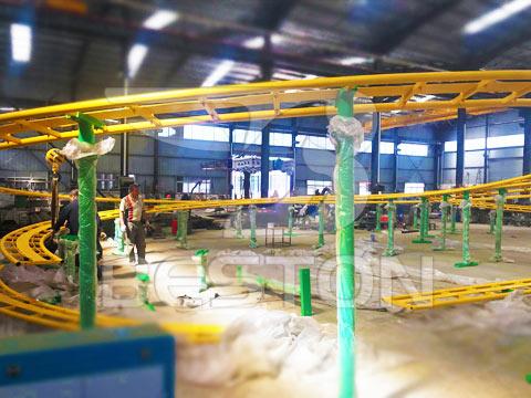 Аттракцион гусеница на заводе из Китая