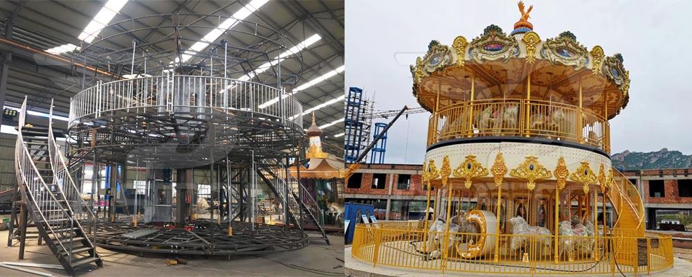 Двухэтажная карусель купить из Китая