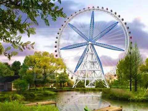 Аттракцион колесо обозрения 120м купить цену